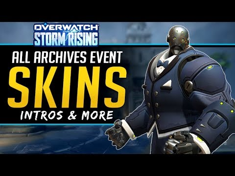 Overwatch All NEW Legendary Skins - Intros, Sprays and more! - Storm Rising 2019 Archives Event thumbnail