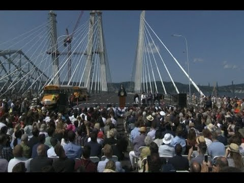 Governor Cuomo Announces Opening Of First Span Of Governor Mario M. Cuomo Bridge
