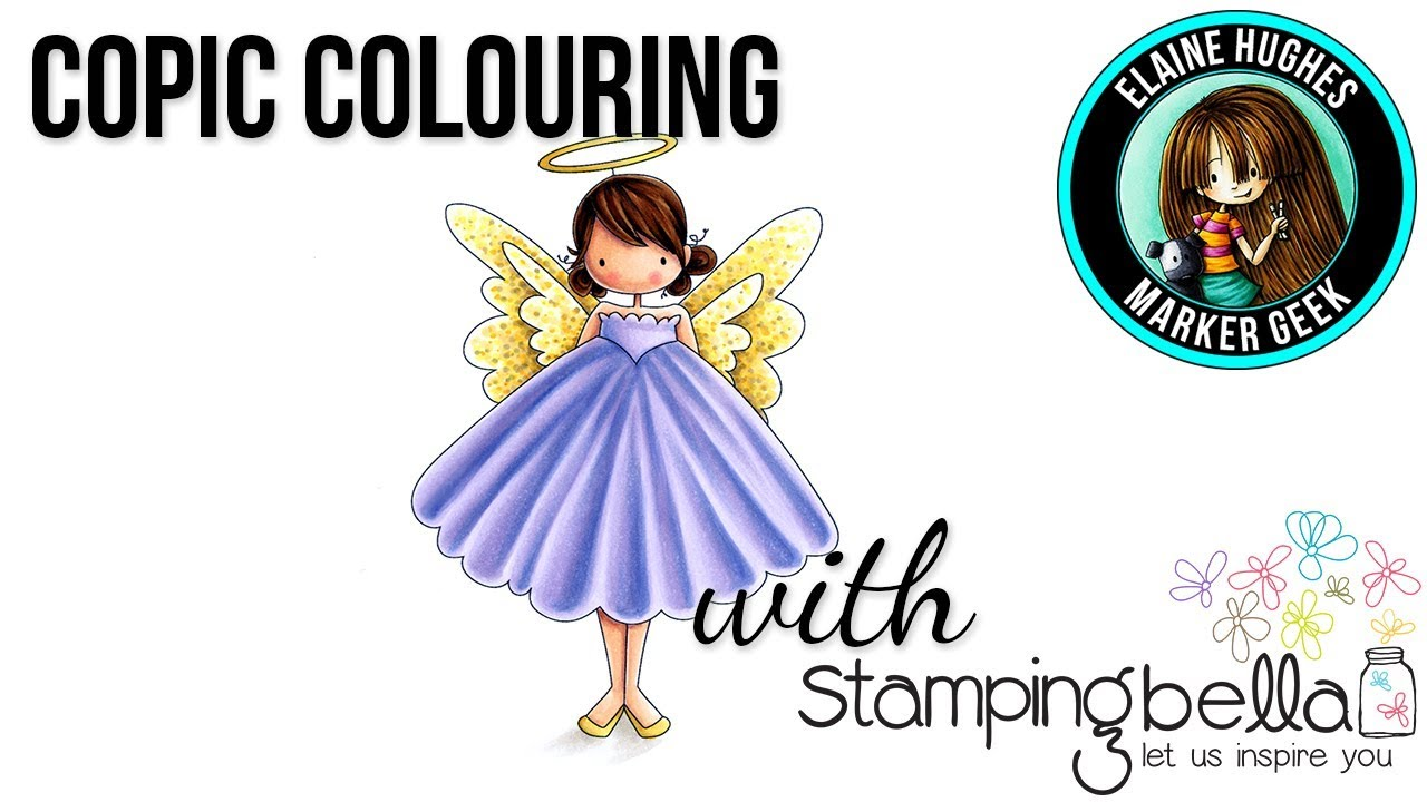 Copic Colouring Stamping Bella 2017 Tiny Townie Annie The Angel Stamp Set