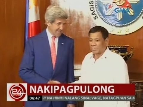 U.S. Secretary of State John Kerry, bumisita kay Pang. Duterte; isyu sa West PHL Sea, tinalakay