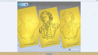 Transform a 3D Model into a Bas Relief for a Coin using ArtCAM Pro