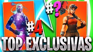 TOP 10 LAS SKINS MAS EXCLUSIVAS Y CARAS DE FORTNITE 💲 LA SKIN MAS EXCLUSIVA Y CARA DE FORTNITE