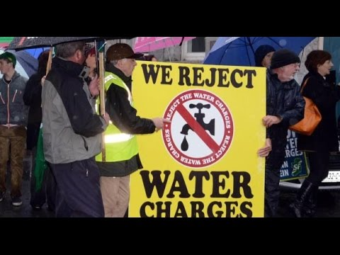 Irish Water Protest Outside The Dáil December 10th 2014