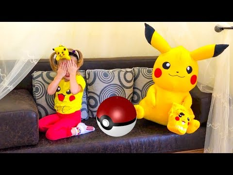 Thumbnail: Playtime Hide and Seek Funny Baby playing with Pokemon Fun Play for toddlers and children