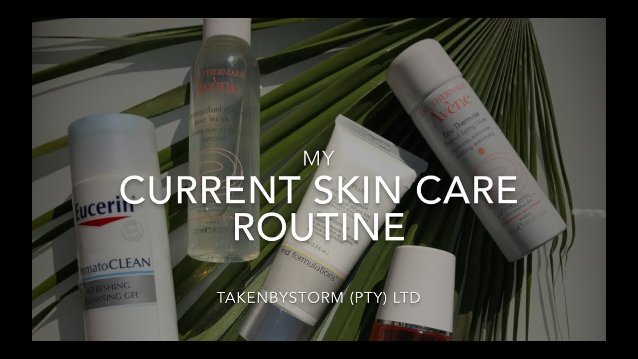 My current skin routine| How I cleared my skin| Eucerin | Md formulations|  Justine tissue oil|