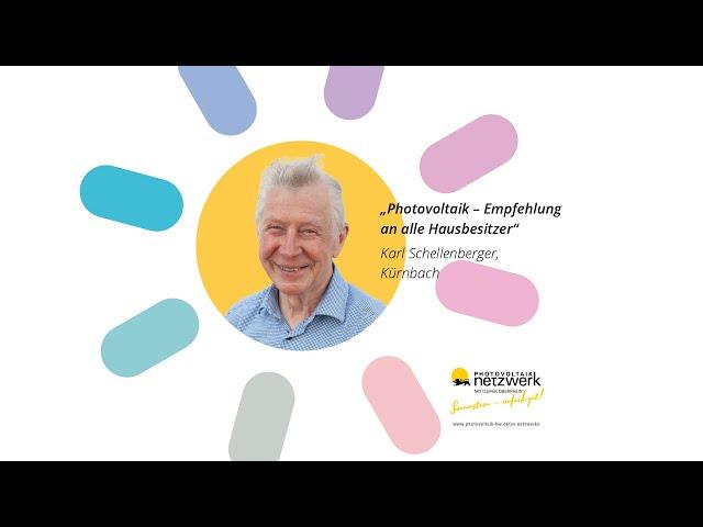 Photovoltaik Botschafter - Karl Schellenberger