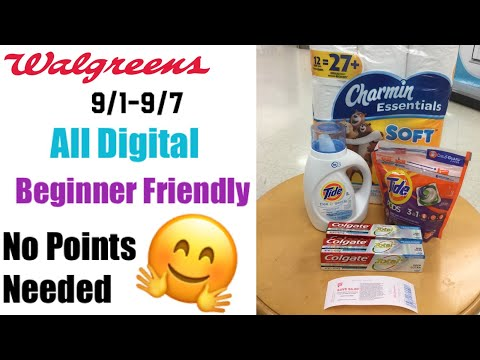 Walgreens Deals 9/1-9/7 | Free Toothpaste | No Coupons Needed | Digital Couponing Deals This Week