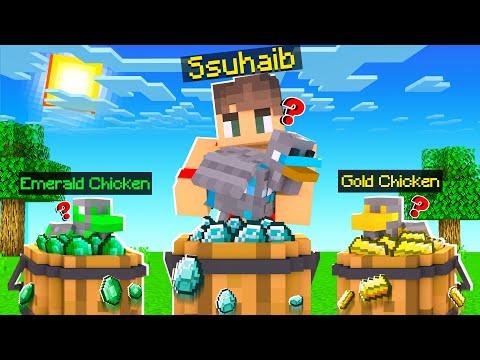 ماين كرافت دجاج الدايموند الرهيب!💎 (تنين الهيرو براين!)😱 - Ore Chicken