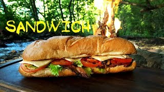 BEST SANDWICH EVER! - Primitive Cooking
