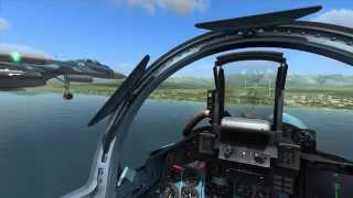 32. Су-33, посадка с Ботом на ВПП Адлер / Su-33 landing on the runway Bot Adler (DCS World)