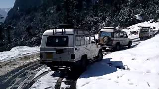 Sikkim Tourism !! Lachung Yumthang Valley !! Amazing Snowfalls Roads !!