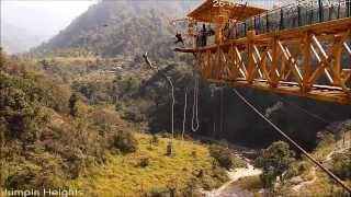 Bungee jump at rishikesh, India