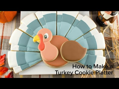 how-to-make-a-turkey-cookie-platter