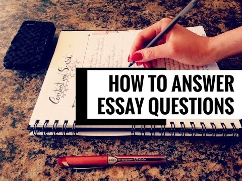 how to answer how essay questions