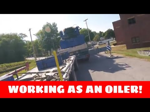Working as an oiler on a crane - YouTube