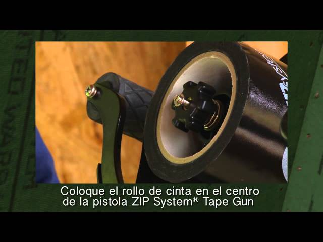 Load the ZIP System™ tape gun -Spanish