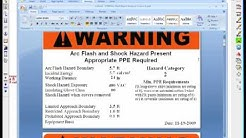 ETAP  - Arc Flash Customized Labels
