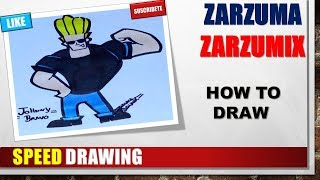 SPEED DRAWING HOW TO DRAW JOHNYY BRAVO STEP BY STEP
