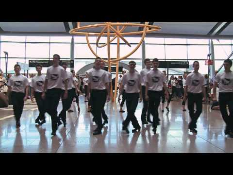 TAKE THE FLOOR Flashmob Dublin Airport