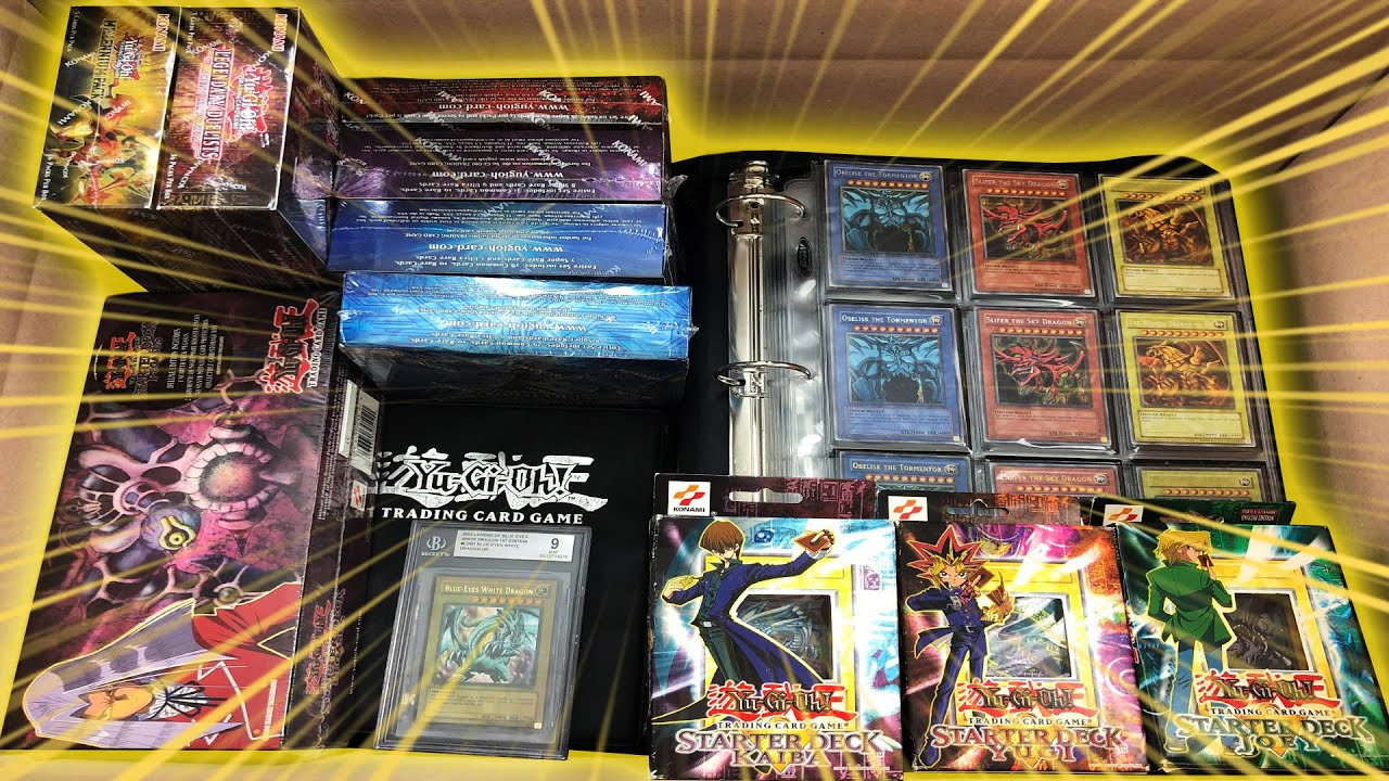 *I BOUGHT THIS $8000.00 Yu-Gi-Oh! CARD COLLECTION!* Opening Binders! Kaiba / Yugi / Joey Deck Boxes!