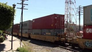 Tren Intermodal KCSM llegando a Empalme Escobedo