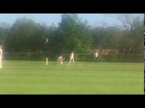 Samuel snaps a New Balance Cricket Bat in half