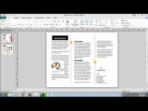 Como hacer un folleto o triptico en pc muy facil y rapidomp4 - YouTube