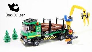 Kijk Lego City 60059 boomstammentransport filmpje
