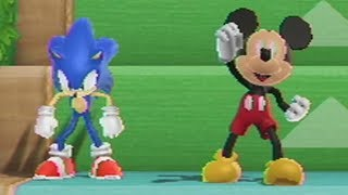 Mario Party 9 - Step It Up #20 - Sonic vs PAC-MAN vs Mickey Mouse [Mod]
