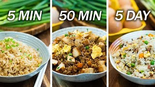 3 Fried Rice Recipes
