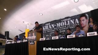 Gambar cover amir khan press conference carlos molina
