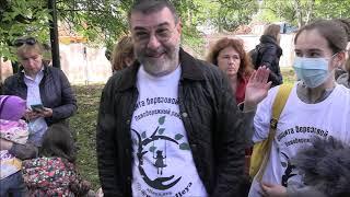 Артист Евгений Гришковец вышел на защиту Берёзовой аллеи в Москве