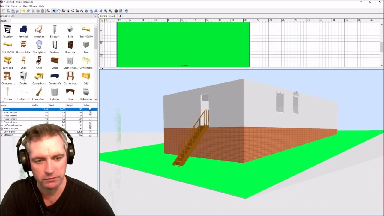 Bark, floor, grass, ground, and wood. Creating A Sloping Ground In Sweet Home 3d Youtube