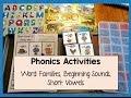 Phonics Activities | Word Families, Short Vowels, Beginning Sounds