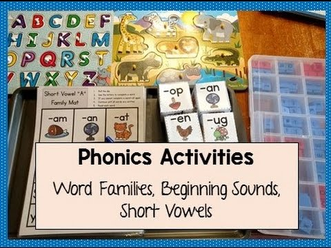 Phonics Activities | Word Families, Short Vowels, Beginning Sounds