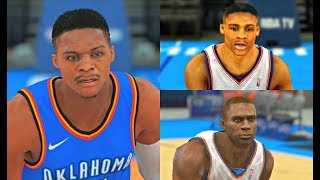 Russell Westbrook from NBA 2K9 to NBA 2K18! #OKC #PS4