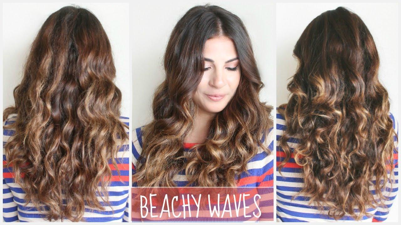Beachy Waves Hair Tutorial - YouTube