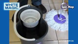Spin Mop - White Magic Microfibre Spin Mop Instructional Video