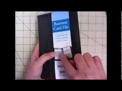 Diy Card Holder For Pocket Sized Planner Youtube