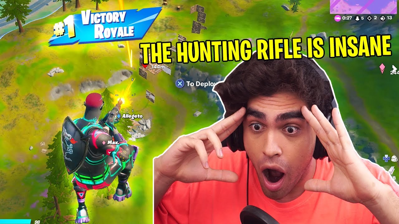 Reacting to the best Hunting Rifle Trickshots...