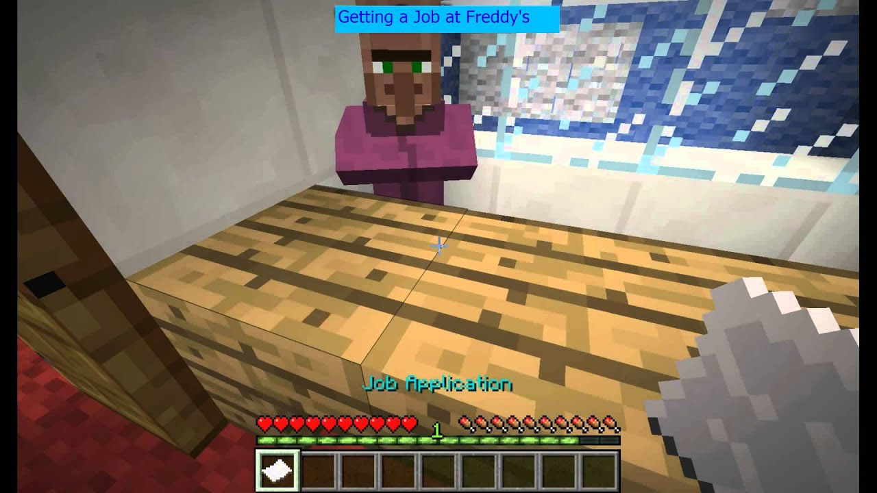 Minecraft how to get a job at freddy fazbears pizza youtube minecraft how to get a job at freddy fazbears pizza publicscrutiny Choice Image