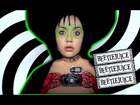 BEETLEJUICE LYDIA DEETZ TWISTED SHRIMP MAKEUP TUTORIAL! thumbnail