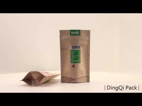 Brown kraft paper bag with window