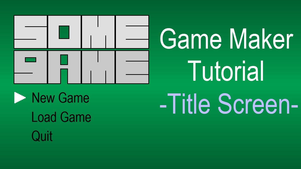 Game Maker Loading Screen