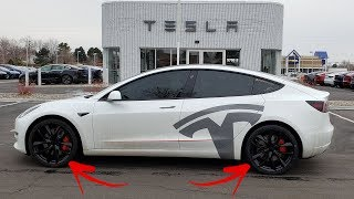 New Tesla Model 3 Rims! Arachnids?!