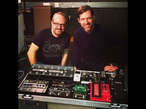 Radiohead guitarist Ed O'Brien's new pedalboard on video