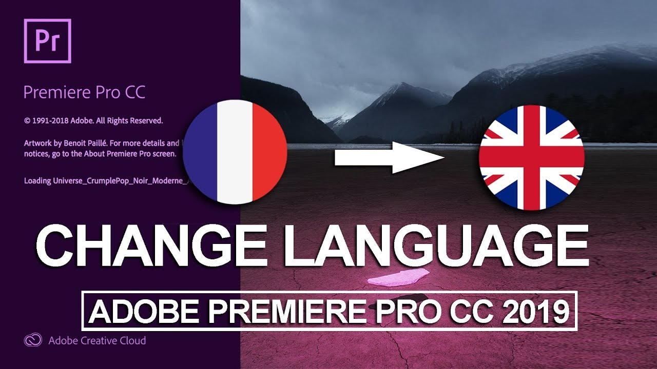 How To Change Language In Adobe Premiere Pro CC 2019