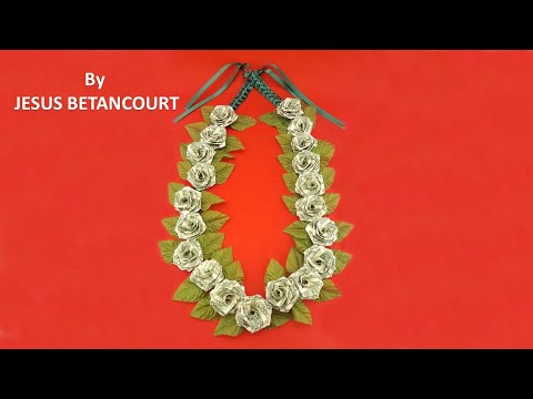 How to Make a Money ROSE Lei for Graduation - TUTORIAL
