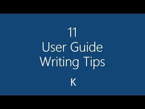 11 User Guide Writing Tips