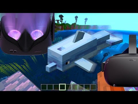Swimming With Dolphins in Minecraft VR on the Oculus Quest